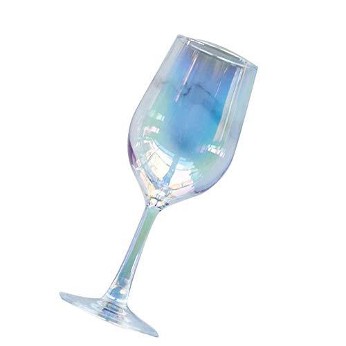 Fantasy Regenbogen-Champagner buntes Kristallglas Farbiges Weinglas Kreativ plattiert Weinglas Farbverlauf Multi-08 - Multi Weingläser Farbige