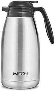 Milton Thermosteel Classic Carafe Flask Tea/ Coffee Pot, 2000 ml, Silver
