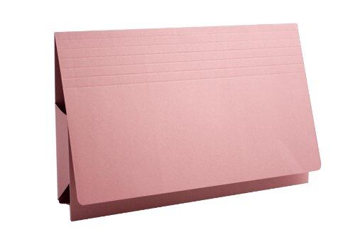 Preisvergleich Produktbild Guildhall PRW2-PNKZ Dokumentenmappe Manila 315 g/m² 75 mm Foolscap 25Stück pink