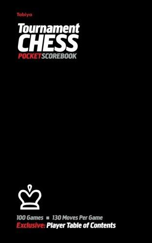 Tabiya Tournament Chess Pocket Scorebook: Cover Style: Black
