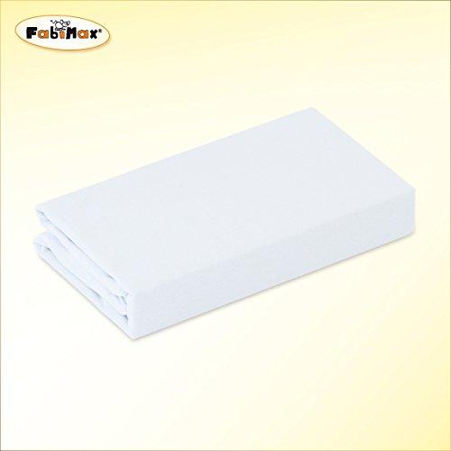 FabiMax 2689 Jersey Spannbettlaken für 6-eck Laufgitter, weiß