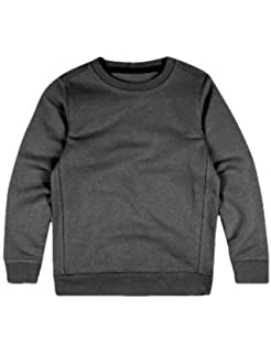 Heather Grey Manufacturer Size:34 Fruit of the Loom Unisex Kids Raglan Classic Sweater Pack of 2 12-13 Years