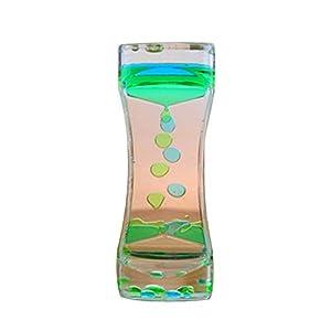 mi ji Temporizador de Burbuja de Movimiento de Reloj de Arena de Dos Colores para la Terapia Relajante Alivia el estrés y Aumenta el Juguete de Juguete Azul y Verde de mi ji