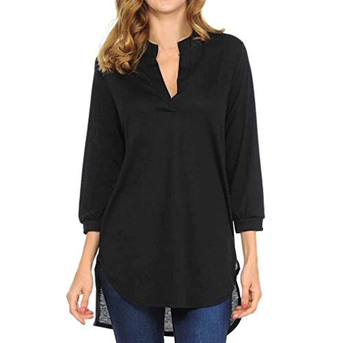 Manadlian Femmes T-Shirt Été V-Neck Coton Fashion Tops Chemisier