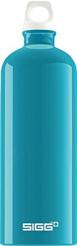 SIGG Fabulous Aqua, Design Trinkflasche, 1 L, BPA Frei, Aluminium, Aqua - Aqua-wasser-flasche