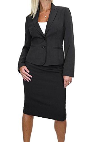 ICE (6486) Slit Pockets Business Lined Jacket Skirt Suit Test