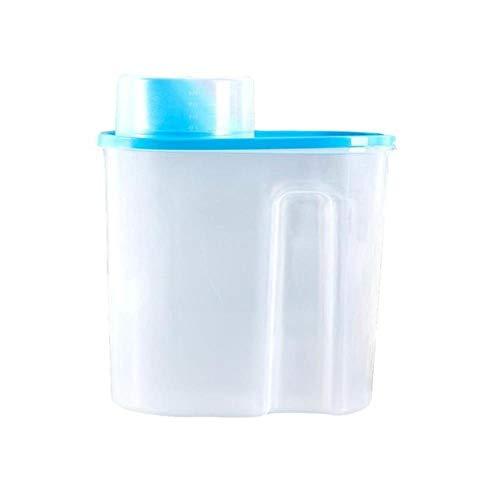 PTOBBA Kunststoff Cerealienspender Aufbewahrungsbehälter-Küche-Nahrungsmittelkornreis Container Küche Mehl Korn Reis Aufbewahrungsbehälter mit Measure Cup, blau, L