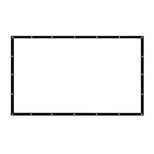 Auntwhale Pliable 16:10 HD Display 60 pouces Écran de projection Polyester Projection Rideau Home Cinéma Courts extérieurs 82 * 129cm Fond blanc + bord noir