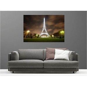 Tabelle Tela decorativa Torre Eiffel illuminata 69585910, 60x40cm