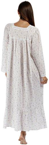 fürThe 1 for U 100% Baumwolle viktorianischer Stil Nachthemd mit Taschen - violett- XS - XXXL lila rose