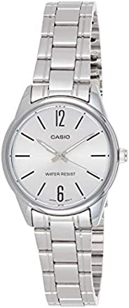 Casio Women's Silver Dial Stainless Steel Analog Watch - LTP-V005D-7