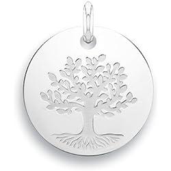 ARBRE DE VIE - Médaille - Argent 925/00 - Diamètre: 17 mm - www.diamants-perles.com