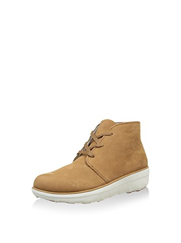 FitFlop Womens Bottes Loaff Cheville Boot Beige Nubuck Tan