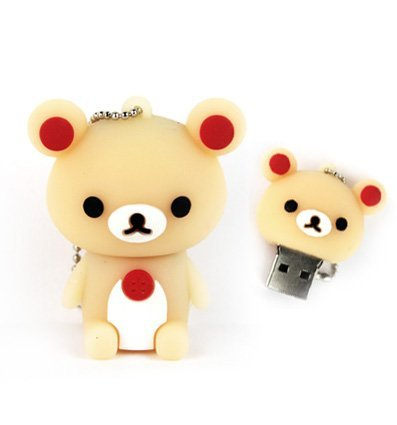 oon Flesh Rot Bär USB Flash Key Pen Drive Memory Stick Geschenk UK ()