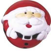 (Stressball Weihnachten - ca. 6 cm Durchmesser - Motiv: Weihnachtsmann)