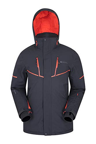 Mountain Warehouse Galactic Extreme Skijacke für Herren - Warme Snowboardjacke. Atmungsaktiv, versiegelte Nähte, abnehmbaren Schneerock - Ideale Winterjacke Grau Large
