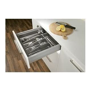 Handles & Ironmongery Cutlery Tray for 600mm Cabinet Matt Anthracite by Stolmet manufacturing (530mm wide x 490mm deep)