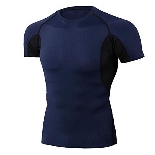 Männer Frühling Sommer Männer T-Shirts 3D Gedruckt Tier t-Shirt Kurzarm Lustige Design Casual Tops Tees Männlich,Eng anliegendes Stretch-T-Shirt blau M -