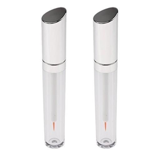 Sharplace Set 2pcs 5ml Flacon Vide de Mascara Bouteille de Colle Faux Cils Tube d'Essence pour Voyage ou Déplacement