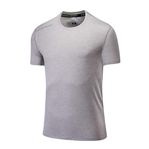 Eaylis Herren Kurzarm T-Shirt Tops LäSsiges, Atmungsaktives Sport-Kurzarm-T-Shirt Mit Rundhalsausschnitt Und Schnell Trocknender Kleidung