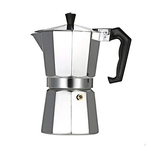 YSCCSY Cafetera 3Cup/6Cup/9Cup/12Cup Aluminio Espresso Cafetera Cafetera Estufa Moca Olla para El Hogar,3Cup