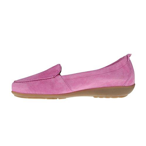 tessamino Damen Mokassin aus Echtleder, klassisch, Weite H, für Einlagen Violett