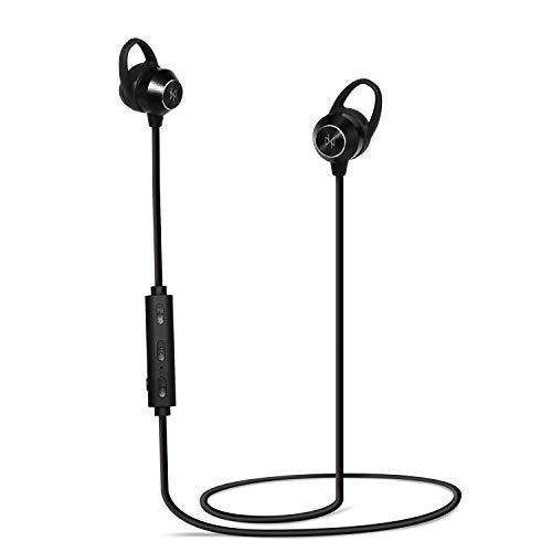 Neeko Invictus - Ultra Calidad HD Negro Bluetooth Auriculares magnéticos inalámbricos waterproof Micro Deporte y trabajo con enorme autonomía y reducción de ruido Última tecnología 2019