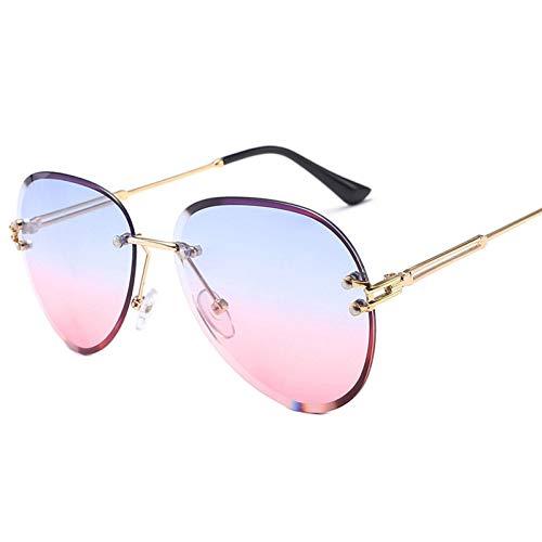 GJYANJING Sonnenbrille Mode Blau Rot Luftfahrt Sonnenbrille Frauen Männer Fahren Uv400 Sonnenbrille Klar Vintage Brille Dames