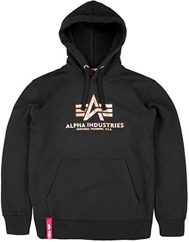Alpha Industries Basic Hoodie Schwarz/Gold XL -