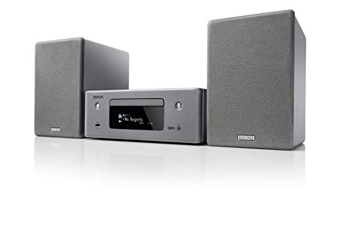 Denon N-10GY CEOL Netzwerk-Kompaktanlage (2x 65 Watt, HEOS, Alexa Kompatibel, Spotify, Amazon Music, Deezer, Napster, Tidal, Internetradio, CD-Player, Bluetooth, TV-Eingang Optisch ) grau