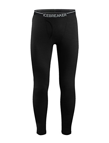 Icebreaker Mens Oasis Leggings w Fly sous vêtement Thermique Homme, Black, FR : M (Taille Fabricant...