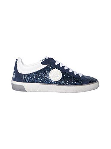 Corvari Damen Sneaker mit Glitter in Dunkelblau Blue - villa-casale ... f69455cb1a