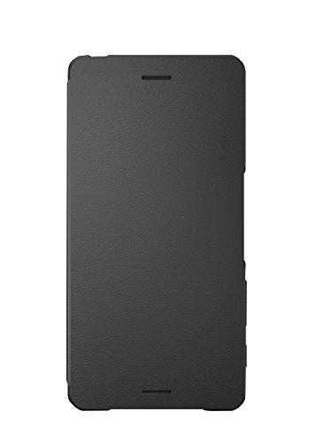 Sony Mobile Smartphone-Flipcover SCR52 Hülle für Xperia X - Graphit-Schwarz