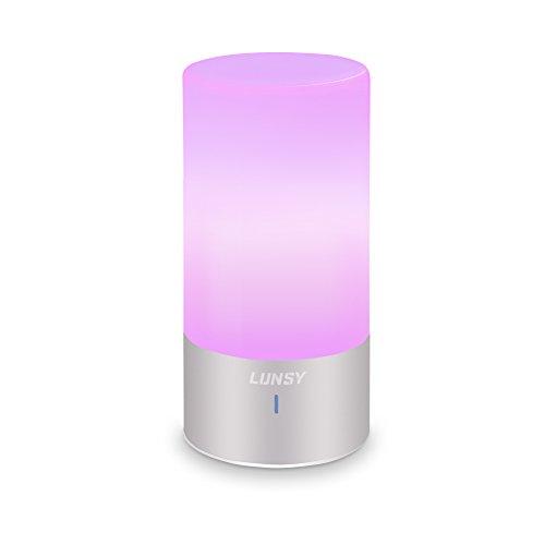 Preisvergleich Produktbild Atmosphäre Tischlampe,  Lunsy 6W LED Atmosphäre Tischlampe RGB Lampe Dimmbar mit Berührungssensor 256 Farbwechsel Intelligente Tischleuchte 360-Grad Touch Steuerung