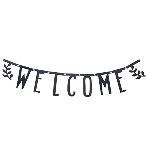 OULII WELCOME Party Banner Hochzeit Geburtstag Bunting Haus Klassenzimmer Dekorationen Garland Photo Booth Props Zurück Zu Schule Party Supplies