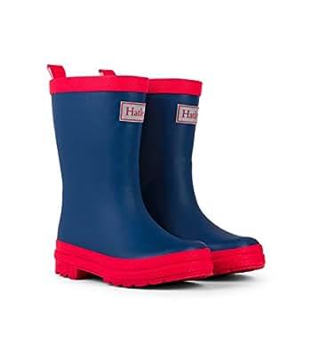 Hatley Kids Classic Wellington Rain Boots, Blue (Navy & Red), 13 UK (1 US)