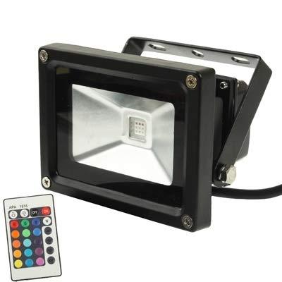 Sandy Cowper Außenbeleuchtung Wasserdichte RGB LED Flutlichtlampe mit hoher Leistung 10W mit Fernbedienung, Wechselstrom 85-265V, Lichtstrom: 800-900lm Outdoor Light -