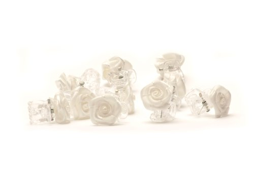 5 Petites pinces à cheveux ornées de roses hairclips Bijoux de cheveux mariée - Blanc