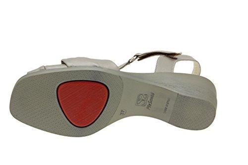 Chaussure femme confort en cuir Piesanto 2557 sandale confortables amples Titanio