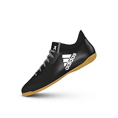adidas X Tango 16.3 in, Scarpe da Calcetto Uomo Nero (Negbas/Ftwbla)