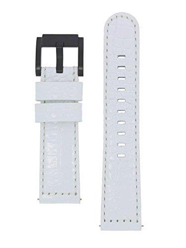 TW Steel Marc Coblen Armband Uhrenband Uhrenarmband Leder 22 MM Kroko Weiss LB_W_K_B