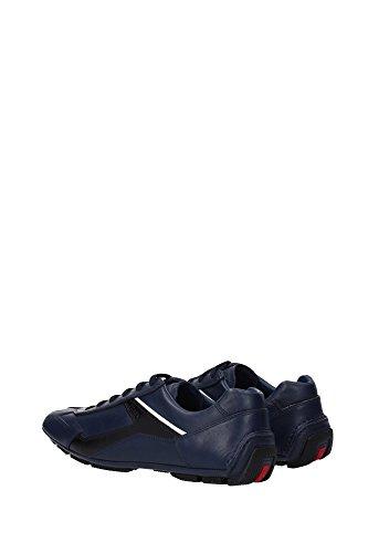 4E2791BALTICO Prada Sneakers Homme Cuir Bleu Bleu