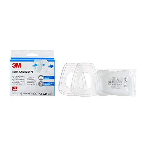 3M Partikelfilter 5935PRO2 – Feinstaubfilter mit Schutzstufe P3 für 3M Feinstaubmasken & Gasfilter – 1 Paar Filter mit innovativer Filtertechnologie