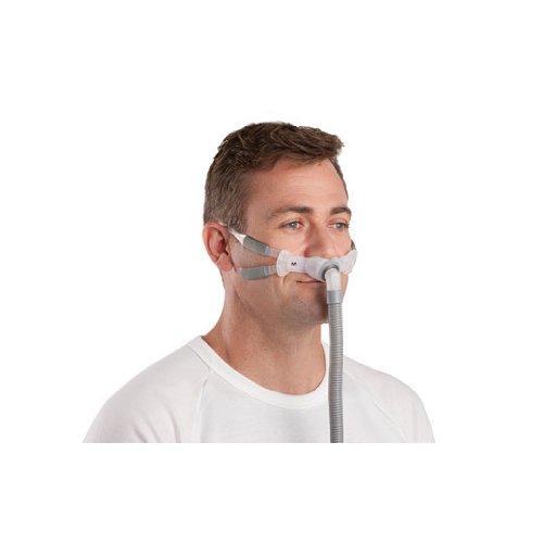 resmed-swift-fx-bella-gray-nasenpoklstermaske-mit-bnderung-die-um-die-ohren-fhrt