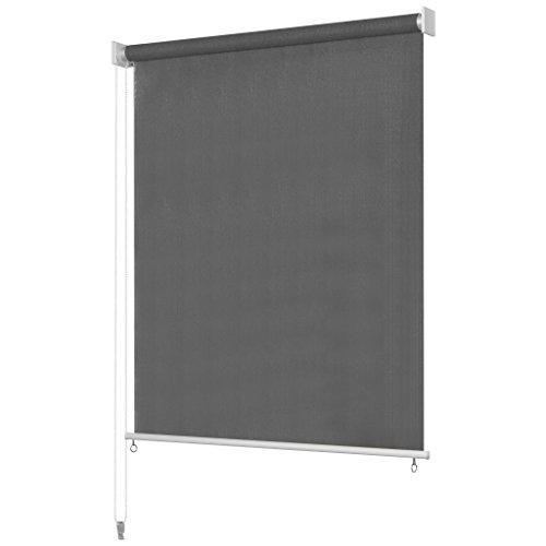 Senkrechtmarkise Balkonrollo | Windschutz, Sonnenschutz und Sichtschutz Rollo | für Außenbereich, Balkon oder Terrasse| Farb- und Größenauswahl ()