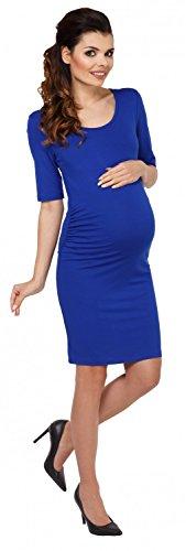 Zeta Ville - Maternité robe grossesse demi-manches près du corps - femme - 789c Bleu Royal