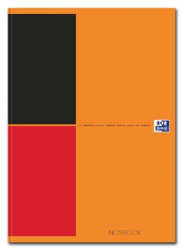 "Preisvergleich Produktbild OXFORD 100102671 ""International"" Notebook   1 Stück   A4+   80 g/m²   liniert 6 mm   ohne Lochung   80 Blatt   flexilbler Kartondeckel & abtrennbare Ecken   orange"