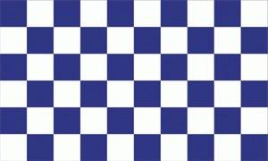 Karo blau / weiss Fahne Flagge Grösse 1,50x2,50m XXL - FRIP –Versand®