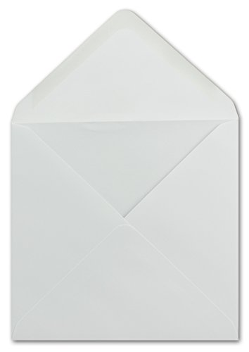fumschläge Weiß 15 x 15 cm 100 g/m² Nassklebung Post-Umschläge ohne Fenster ideal für Weihnachten Grußkarten Einladungen von Ihrem Glüxx-Agent ()