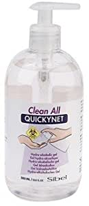 Sibel - Quicknet Gel Hydro-Alcoolique Clean All - Couleur : Argent - Contenance : 500Ml